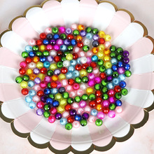 500g/Lot Random Mixed Oval Shape Acrylic Beads Children DIY 12mm Faceted Bracelet Necklace Spacer Beads Jewelry Accessories