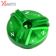 Flash Deals Voor Kawasaki Z750/S 2004 2005 2006 2007 2008 2009 2010 Accessoires Motorfiets Cnc Olievuldop plug Met Logo