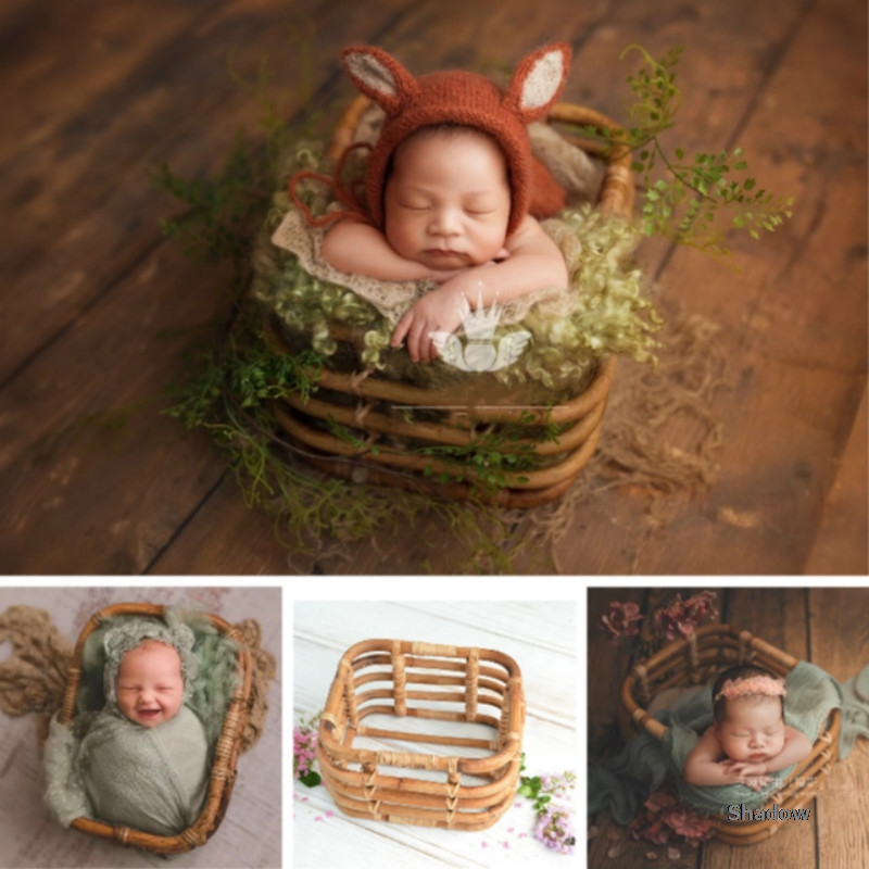 Baby Photography Props Weaving Basket Newborn Posing Props Baby Baskets Retro Infant Photo Accessories Nice Photogenic Effect