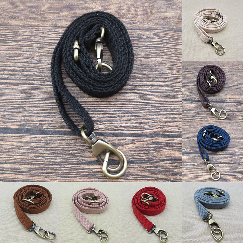 New 135cm Solid Color Canvas Adjustable Bag Strap Hot Sale Fashion Girls Candy Color Replacement Shoulder Strap Accessories