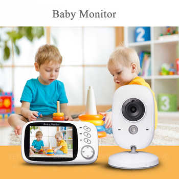 Babysitter Wireless Video Color Infant Baby Monitor 3.2 Inch Night Vision Temperature Monitoring Baby Nanny Wifi Security Camera