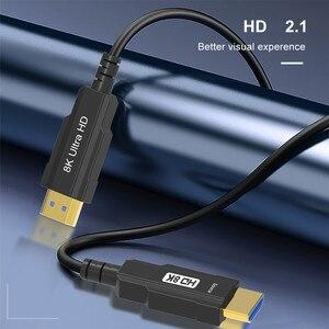 Image 2 - Hình Thật 100% Sợi Cáp Quang HDMI Tương Thích 2.1 8K Tốc Độ Cao 48Gbps 8K @ 60Hz 4K @ 120Hz HDCP2.2 HDR4:4:4 Cho PS5 HD Blu ray Chơi