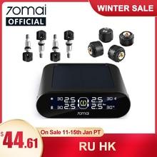 70mai-sistema de supervisión de presión de neumáticos para coche, Control por aplicación móvil, pantalla LED, energía Solar, 4 sensores, 70Mai TPMS, alarma de seguridad para coche