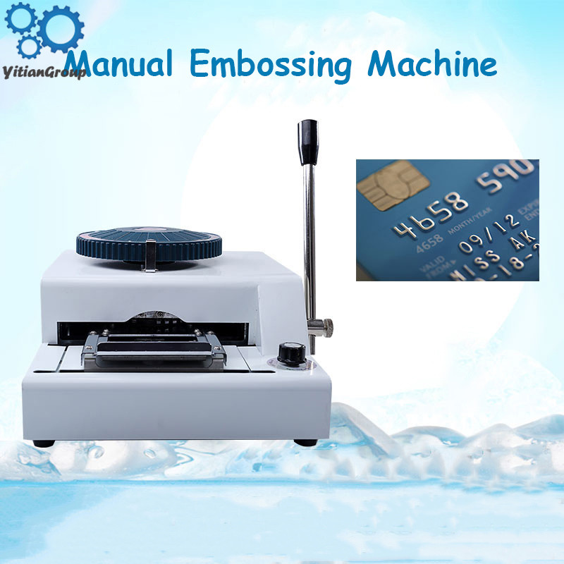 Convex Code Printer Pressure Code Machine Code Machine VIP Membership Card Typewriter PVC Manual Embossing Machine