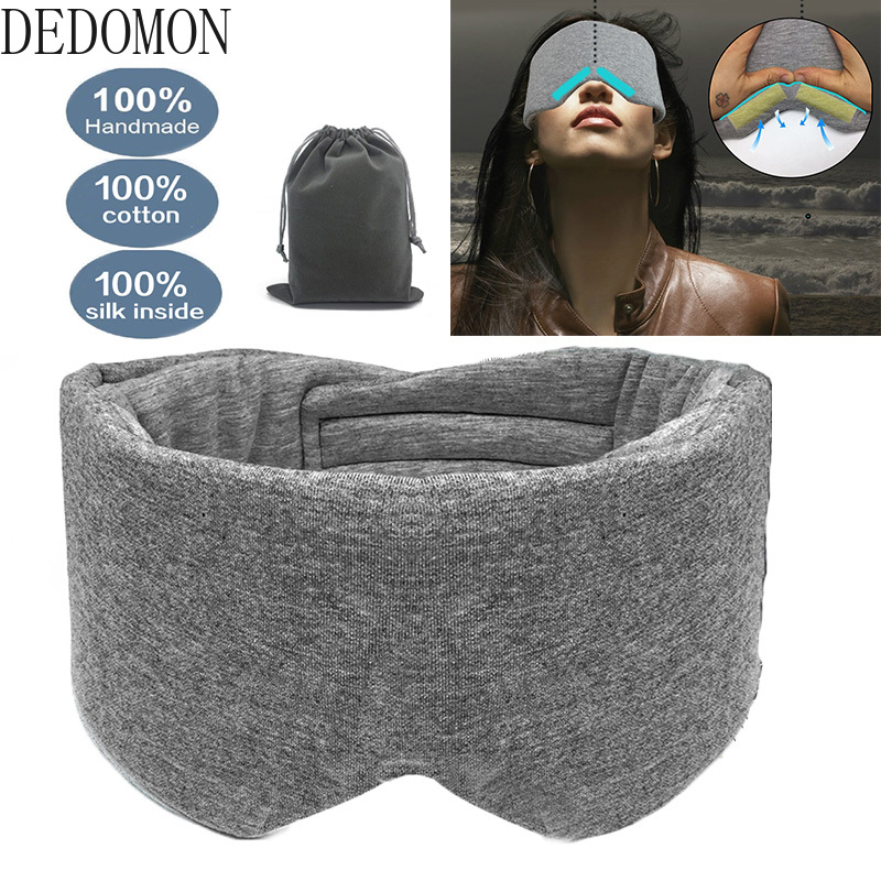 Sleeping Mask Eyepatch Soft Eye Sleep Mask Manta Modular Adjustable 3D Breathable Travel Relaxing Sleeping Aid Blindfold