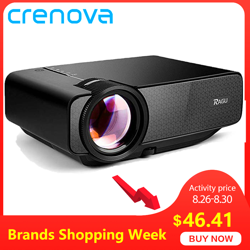 CRENOVA Led-Projector Beamer Movie VGA YG400 Z400 HDMI Home Theater Newest for with USB