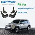 4 шт./компл. Брызговики автомобильные брызговики брызговик крыло брызговиков для Jeep Renegade BU 2014-2018 автомобиль Средства для укладки волос