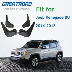 4 pçs/set Respingo Guardas Mud Flap Mudguards Fender Mudflaps Carro Para Jeep Renegado BU 2014-2018 Car Styling Acessórios