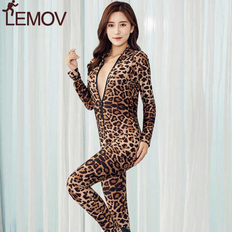 2019 Brand New kobiety czarne paski Sheer body gładkie włókna 2 Zipper kombinezon z długim rękawem