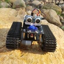 DIY Hindernis Vermeidung Smart Programmierbare Roboter Tank Pädagogisches Learning Kit Für Arduino UNO Programmierbare Spielzeug Beste Geschenk