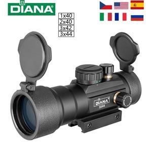 DIANA 3X44 Green Red Dot Sight 2X40 Red Dot 3X42 Tactical Optics Riflescope Fit 11/20mm Rail 1X40 Rifle Sight for Hunting