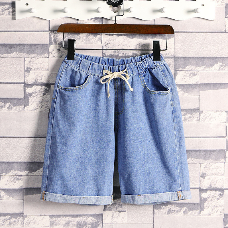 Summer Thin Section Denim Shorts Men's Korean-style Trend Loose-Fit Shorts Students Hong Kong Style Versatile Social Fella Short
