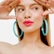 Europe America Hyperbolic Vintage Round Circle Acrylic Simple Hoop Earrings Fashion Jewelry Bohemia-YSF