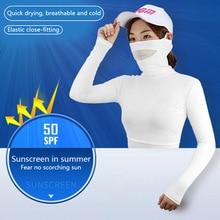 Apparel Sunscreen Womens Shirts Golf-Bingsi Summer PGM Underwear Long-Sleeve MJ Half-Length
