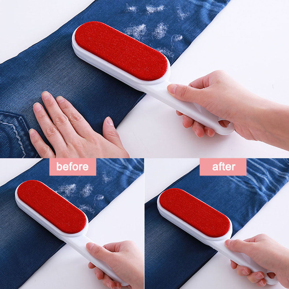 Dog Comb Tool Pet Hair Remover Brush Dog Cat Fur Brush Base Double-Side Home Furniture Sofa Clothes Cleaning Lint Brush for Pets