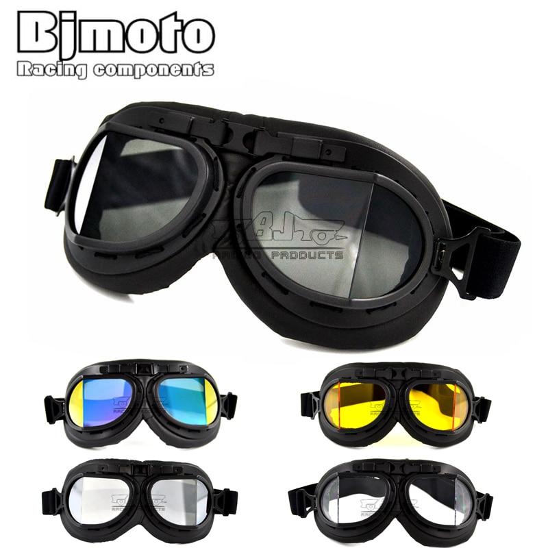 Possbay Skiing Goggles Vintage Style Bike ATV Dirt Racing Aviator Helmet Anti UV Glasses