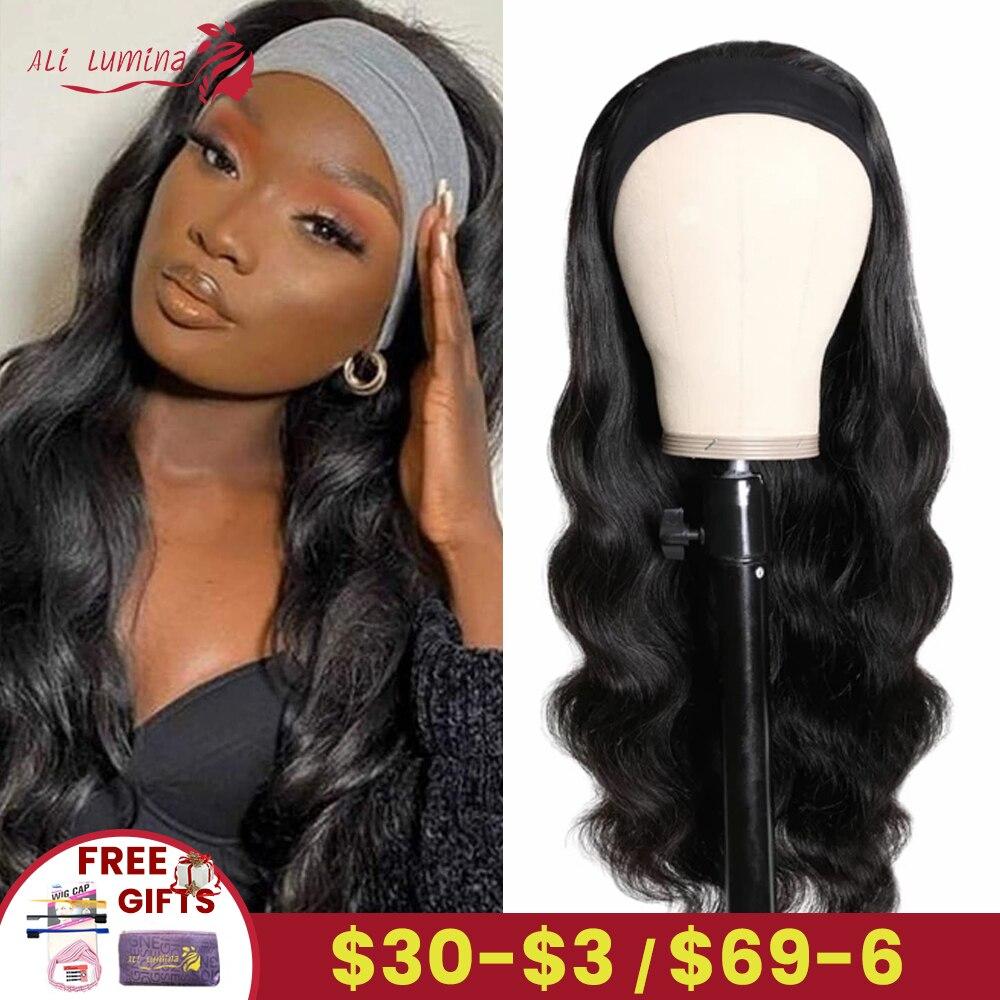 Body Wave Headband Wig   Hair 150 Density  Wigs  Fashion Style Glueless Scarf Wig 1