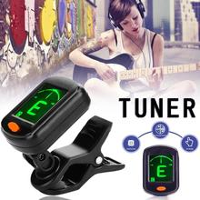 AT-101 Digital Clip Type Electric Guitar Tuner Foldable High Sensitivity Rotating Musical Instrument Accessories