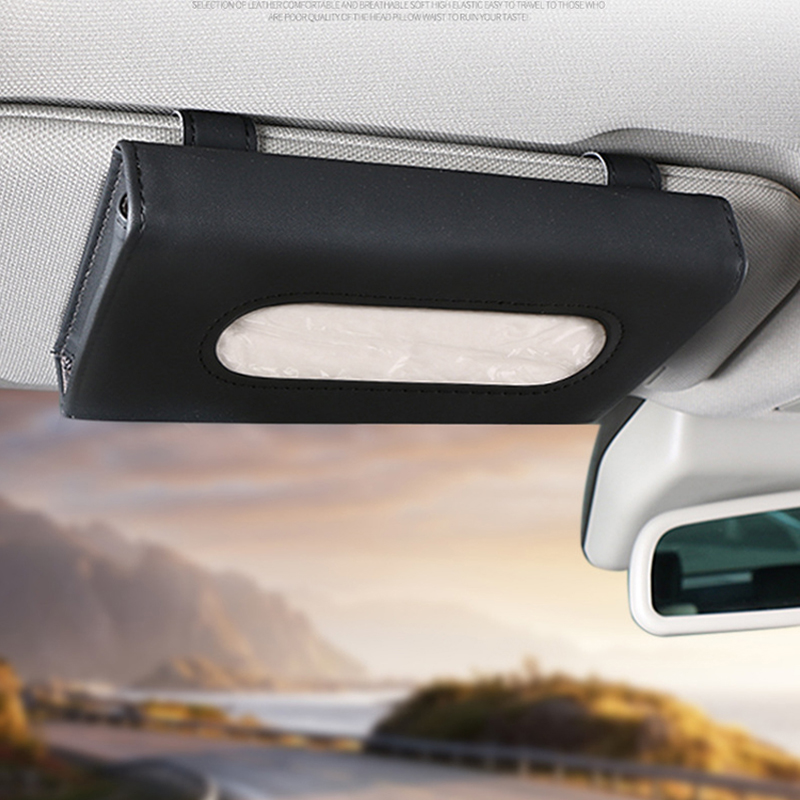 Automobile Sun Visor Suspension Type Tissue Box Car Borne Creative Ceiling Type Napkin Drawer In Car Tissue