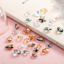 30pcs  Multicolor Multi-shape Crystal Beads Beads Charms Small Pendants  for Glass Beads for Jewelry Making Diy Accessories потолочный светильник odeon light pati 2205 3a