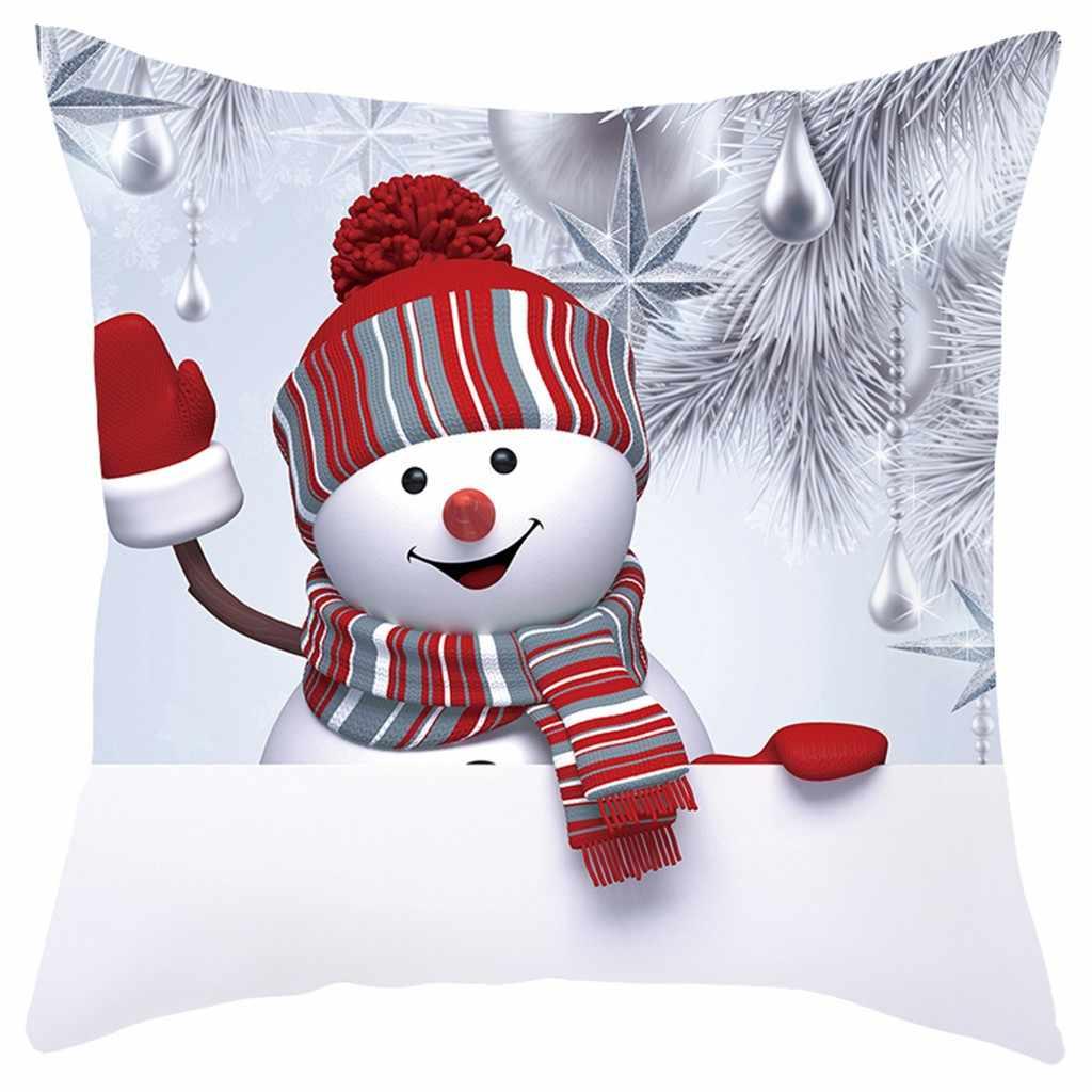 枕ケース 2020 新クッションカバークリスマスソファケース 3D 雪だるま装飾 housse · ド · Coussin Kussenhoes Cojines