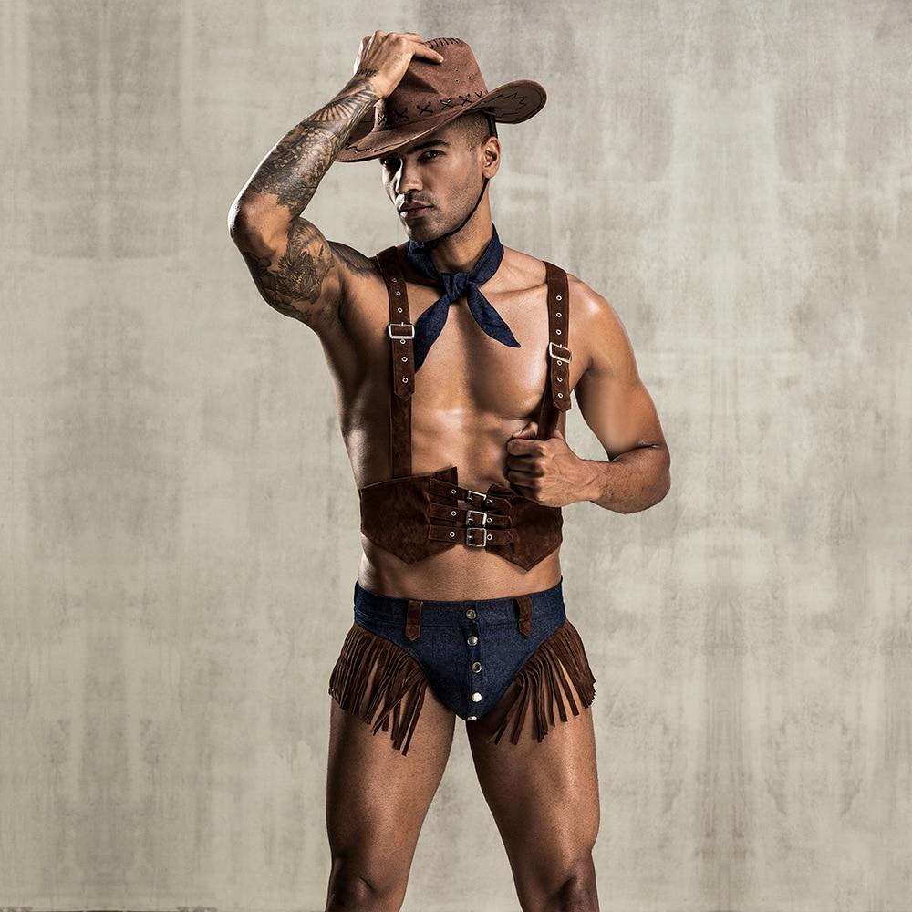 Man Sexy Uniform Adult Men Western Cowboy Cosplay Costumes Men's Sexy Role Play Erotic Fancy Gay Sexy Clubwear Uniform