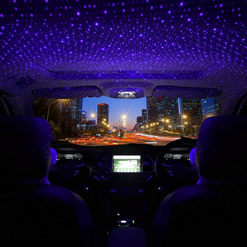 USB Atmosphere Light of Car Roof Interior Decoration Star Ceiling Projection Lights Auto Accessories