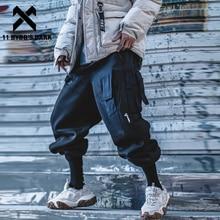 Men Trousers Cargo-Pant Multi-Pockets Harajuku Joggers Hip-Hop-Function-Pants Streetwear