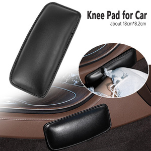 1pcs Black Car Knee Cushion Leather Knee Pad for Car Interior Pillow Comfortable Memory Foam Universal to Car Truck 18X8cm(China)