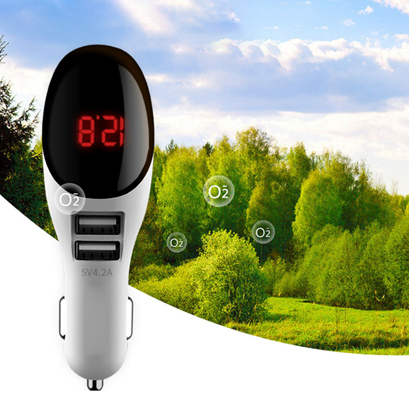 Car Charger for Mobile Phone Negative Ion Car Air Purifier Cigarette Lighter JFlyer