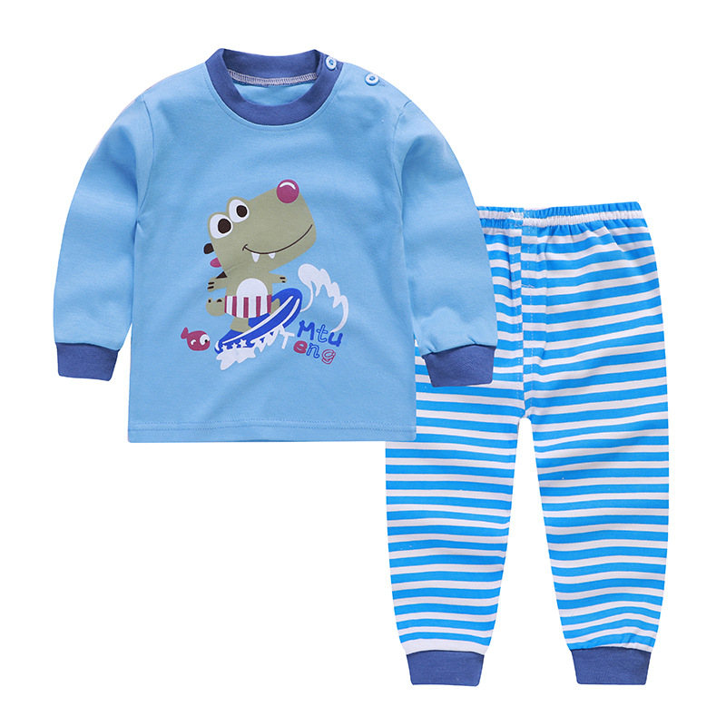 Kids Pajamas Sets Cotton Boys Sleepwear Suit 2pcs Spring Autumn Girls Pajamas Long Sleeve Pijamas Tops+Pants Children Clothing 2