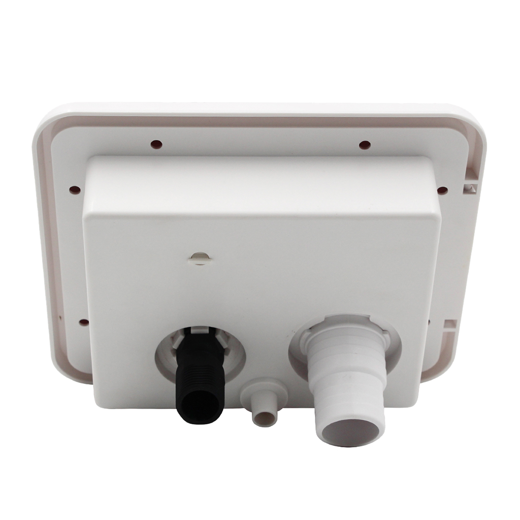 White Plastic Gravity/City Water Hatch Fill Dish Lock Keys for RV Trailer Camper Caravans #2(China)