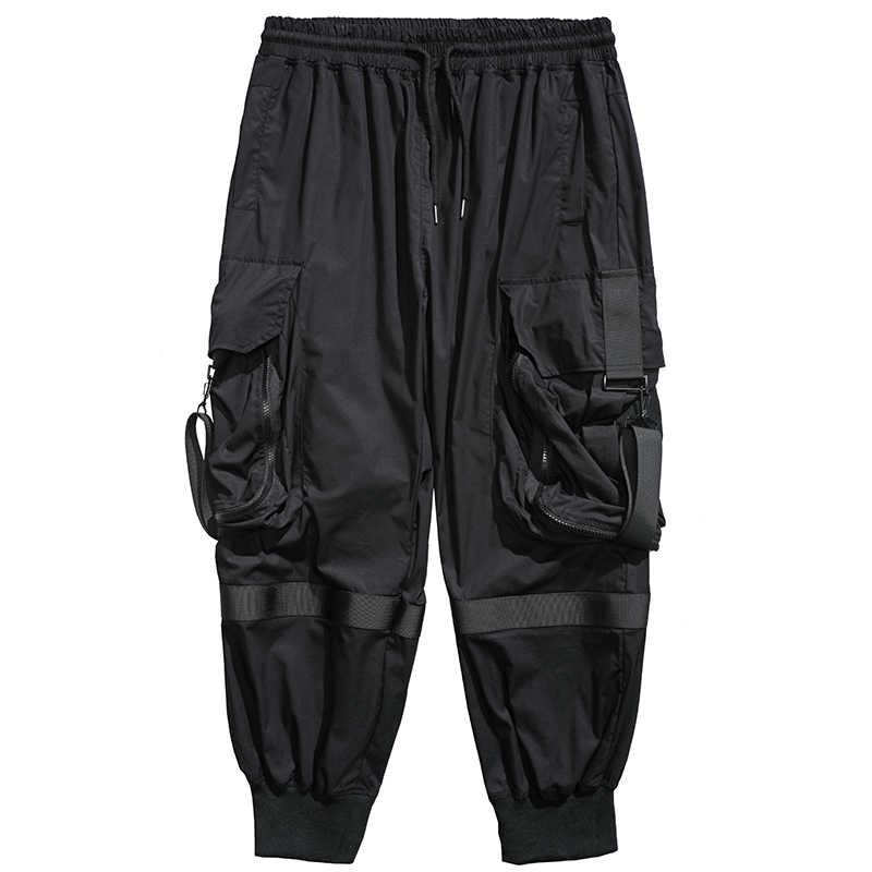 2020 Streetwear Joggers 힙합 바지 블랙 하렘 바지 남성 Techwear 의류 패션 한국 스타일 Bts Kpop 남성 의류