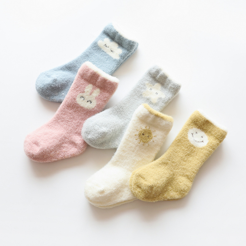Winter Thick Newborn Baby Socks Toddler Baby Girls Boys Socks Anti Slip Soft Baby Socks For Girl Age For 0-3 Years Old
