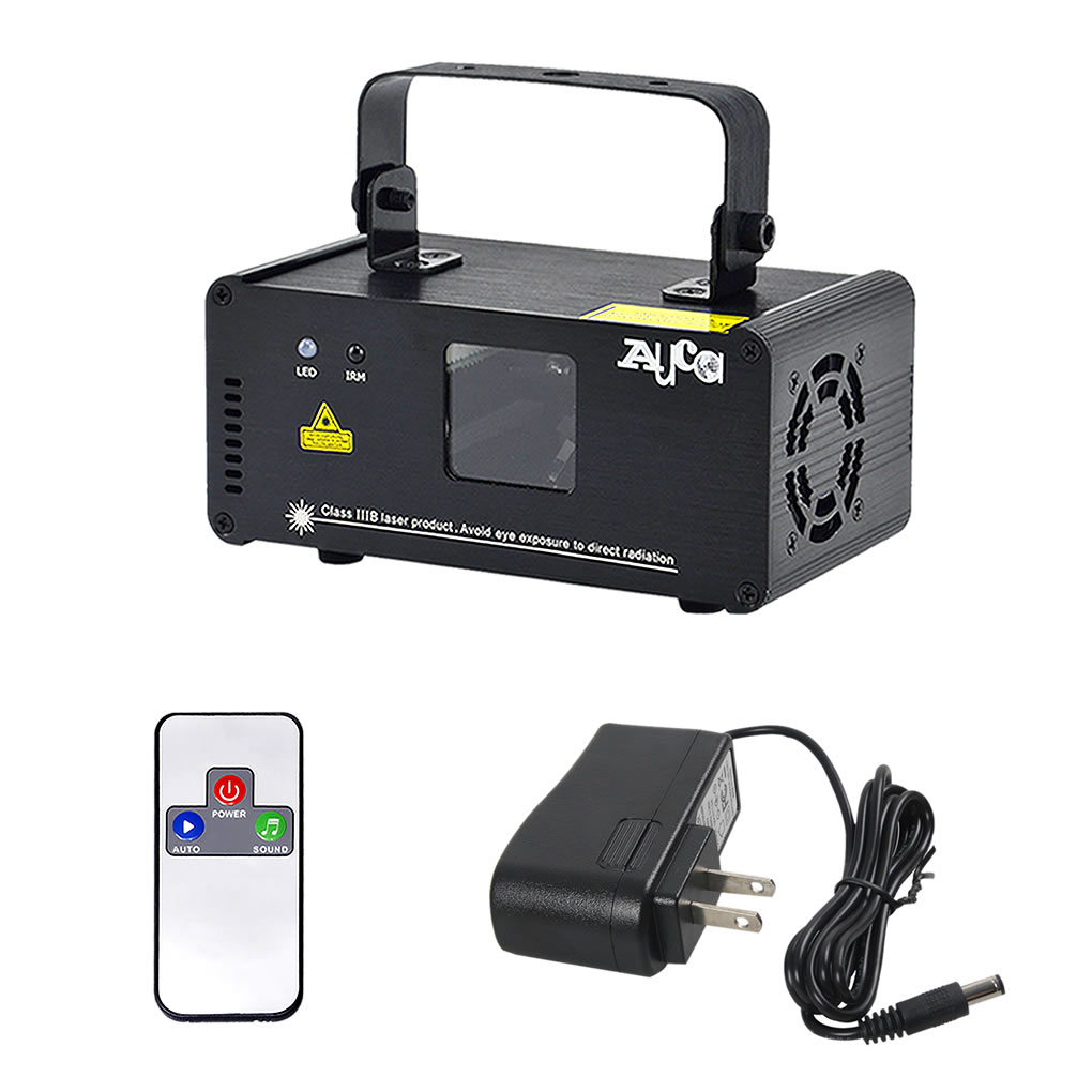 Image 5 - AUCD Mini IR Remote 8CH DMX 100mW Red Laser DPSS Projector Lights Disco DJ Christmas Party Show Beam Scan Stage Lighting DM R100-in Stage Lighting Effect from Lights & Lighting