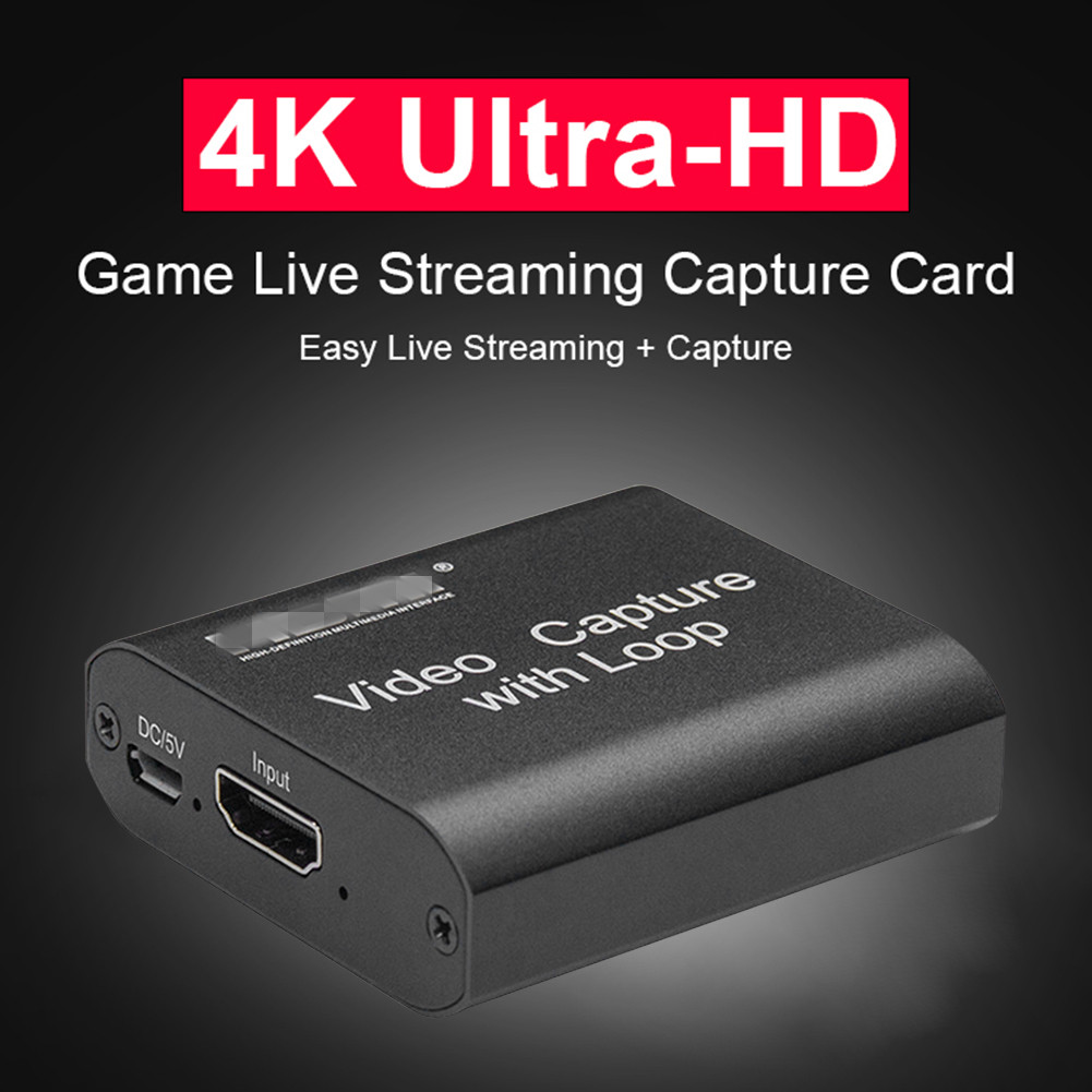 HDMI-compatible Capture Cards 1080P 4K USB 2.0 Video Recorders Boxes Game Live Streaming for Household Computer Safety Parts 1