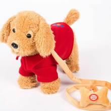 روبوت الكلب التحكم الصوتي الكلب الإلكترونية التفاعلية أفخم تيدي ينبح المشي الموسيقى الكلب المقود لعب للأطفال هدايا عيد