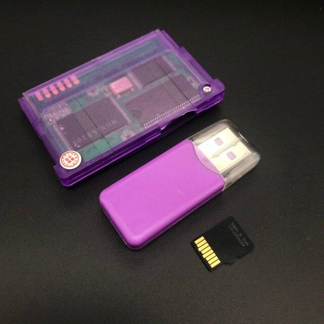 חדש גרסת תמיכה TF כרטיס עבור Gameboy Advance משחק מחסנית עבור GBA/GBM/IDS/NDS/NDSL