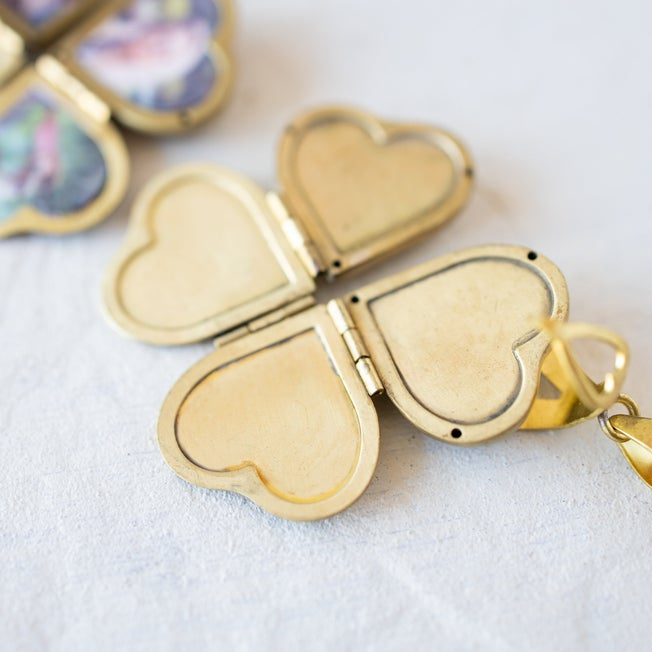Diy Jewelry Vintage Heart Shaped 4-layer Photo Locket Necklace Pendant Statement Necklace Corrente Masculina Wedding Anniversary
