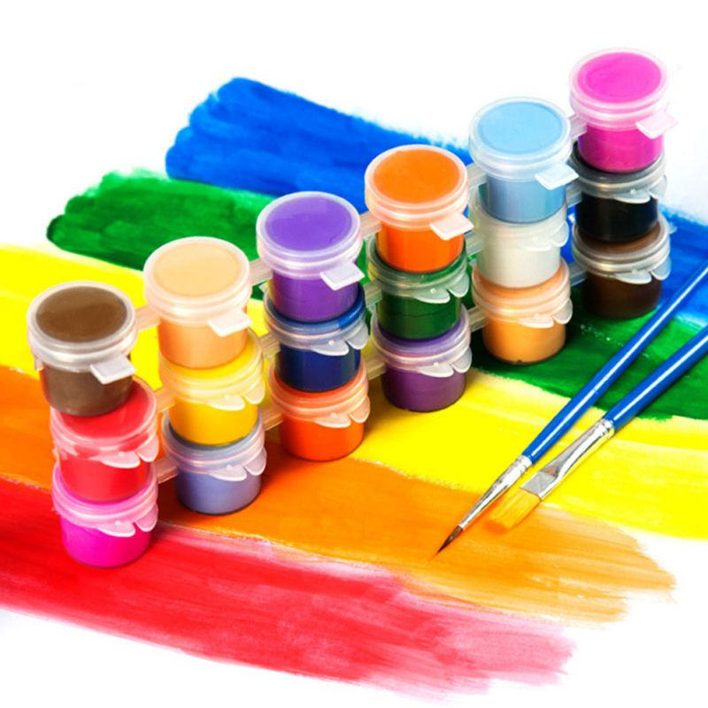 6 Colors 12 Colors Acrylic Paint DIY Handmade Painting Art Materials Children Safe Pigments Kindergarten Graffiti Pigment Set
