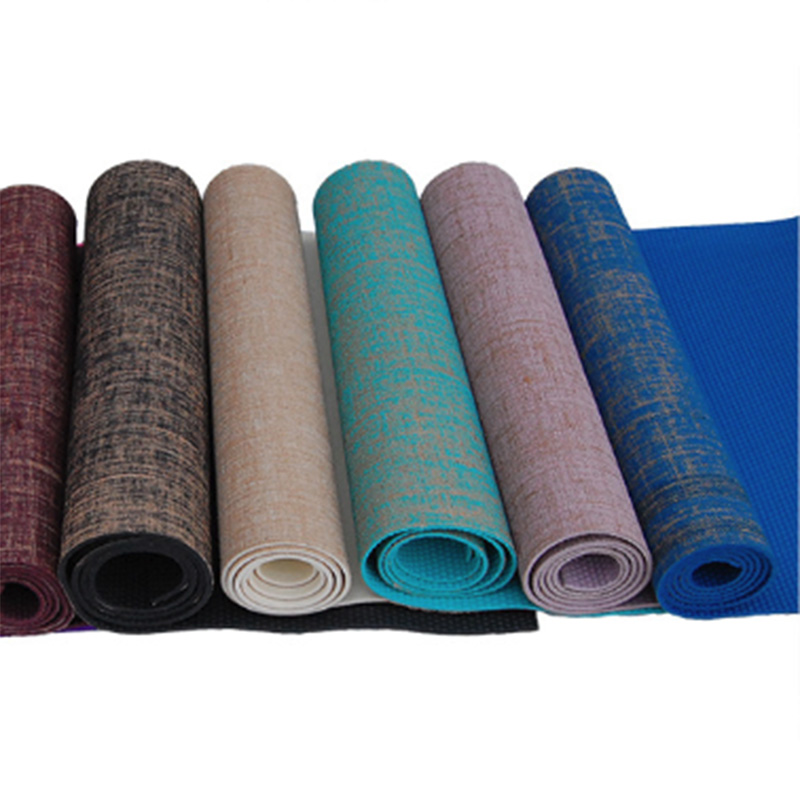 Non-slip Jute Pvc Yoga Mat Nature Yoga Mat Thickness 5mm Linen Material Yoga Mat Exercise Pad