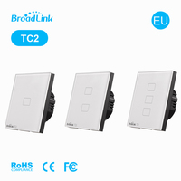 BroadLink EU TC2 E Touch RF 433Mhz Wall Light ON OFF Switch 123gang WiFi Control phone Single Live Wire Connection Smart Home