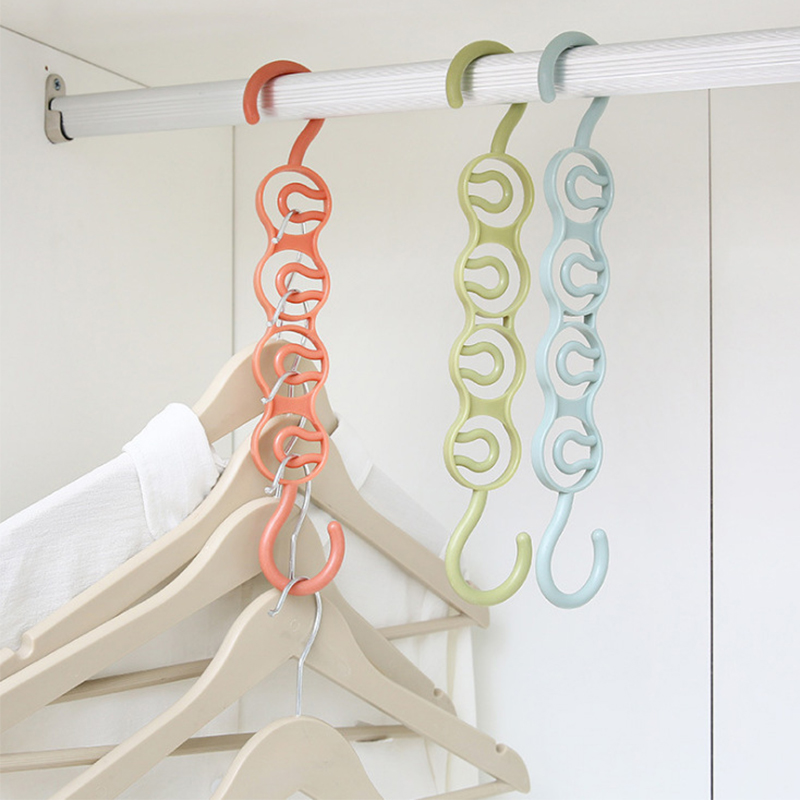 Hanger Home Multi-Function Multi-Layer Wardrobe Space Four-Hole Storage Rack Clothes Hanging