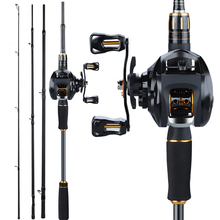 Sougayilang 4 Sections High Speed Fishing Rods Set Porable Ultra-light Carbon Fishing Reel with12+1BB Fishing Casting Reel Combo cheap Rod+Reel Ocean Boat Fishing Ocean Rock Fshing Ocean Beach Fishing LAKE River Reservoir Pond stream Spinning Aluminium Alloy