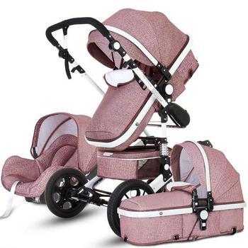 Newborn Baby Stroller 3 in 1 High Landscape Carriage Luxury Travel Pram Basket quality Stroller Baby Car seat Hot Sale Upgrade! 20