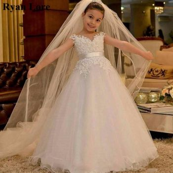 2020 White/Ivory Flower Girl Dresses Princess Dress For Weddings Party Lace First Communion Special Occasion Pageant - discount item  40% OFF Wedding Party Dress