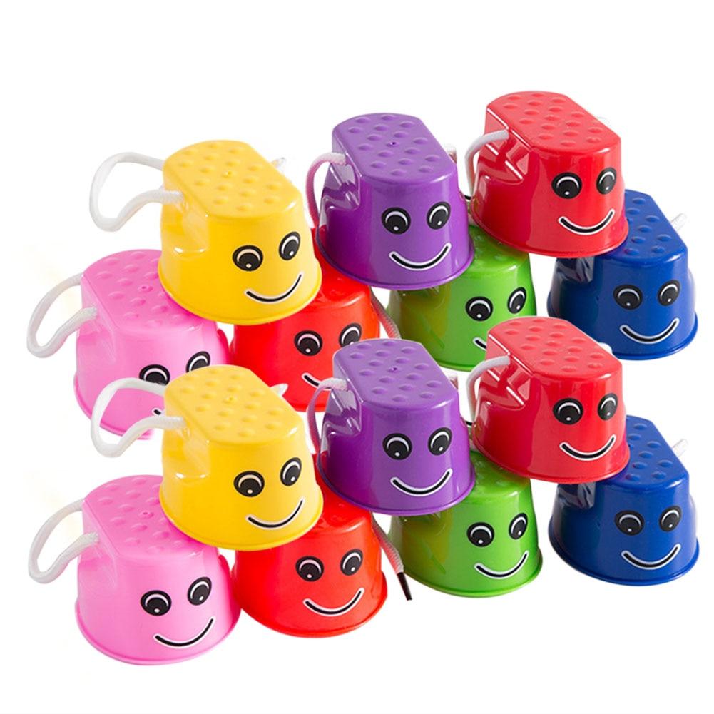 2 pièces/ensemble saut échasses jouets durables couleurs vives équilibre échasses sens formation enfants jeux de plein air épaissi saut amusant jouet