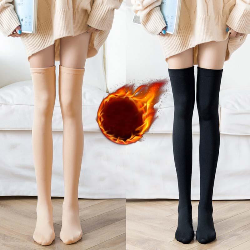 Women Warm Over The Knee Thigh High Soft Socks Stockings Leggings Ladies Girls