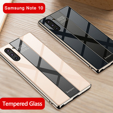 Phone Case for Samsung Note 10 Galaxy Shockproof Plating PC Mirror Hard Back Cover 10+