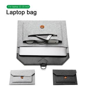 Image 1 - Funda de lana de fieltro para ordenador portátil, funda para Macbook Air Pro, Retina 11, 12, 13, 15, Lenovo, Asus, HP